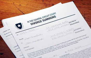 Photo of a Divorce Summons